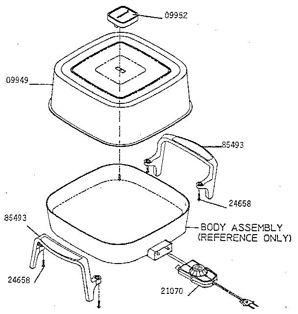 Kenmore model 65630 fry pan genuine parts