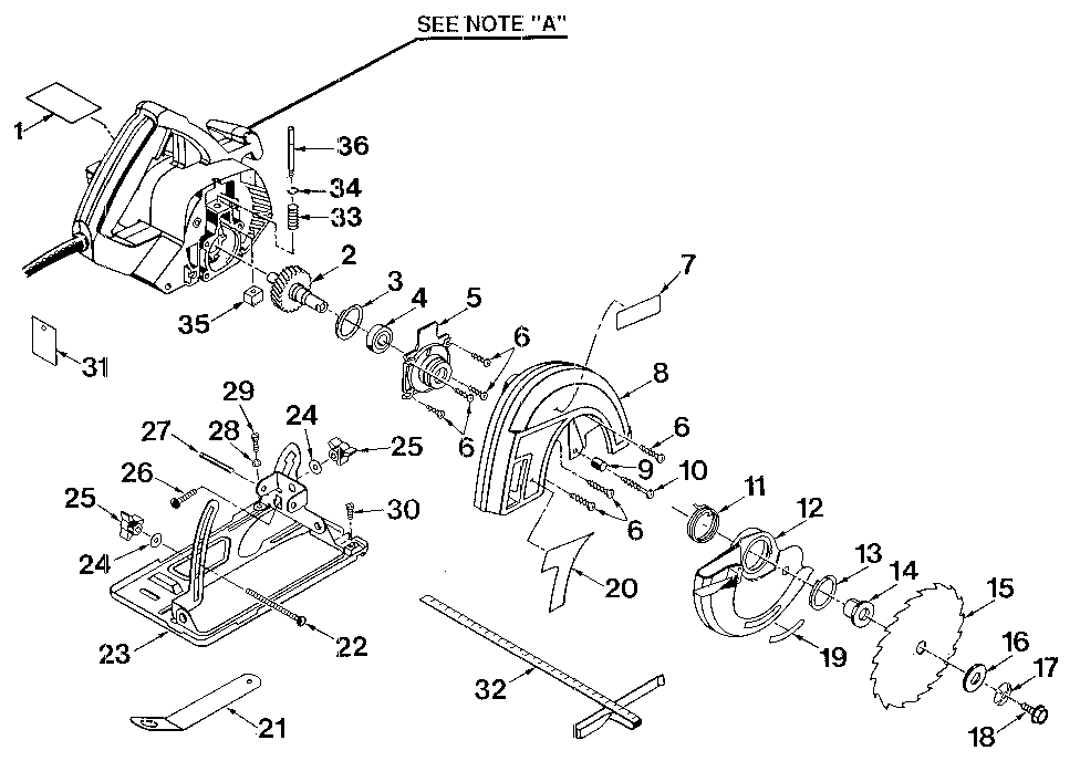 Craftsman model 315108250 circular saw genuine parts
