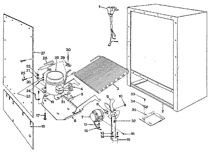 Marvel model 61RF under counter refrigerator genuine parts