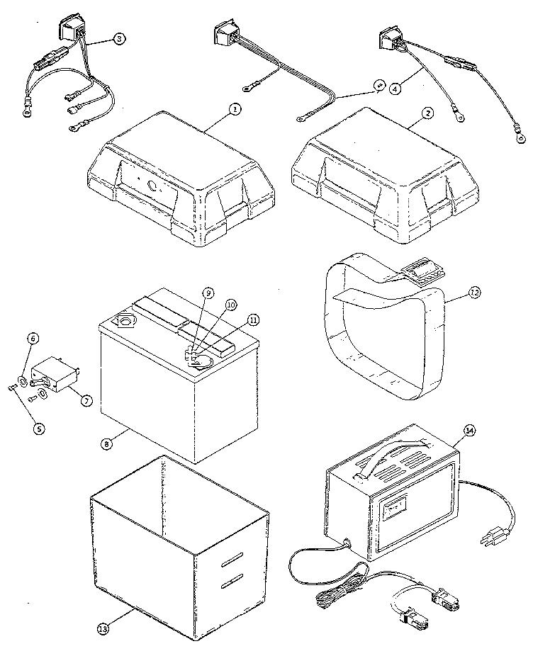 Everest-Jennings model MOBIE PREMIER scooter genuine parts