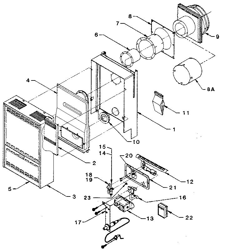 Williams model 30DV-5B LPG furnace- wall genuine parts