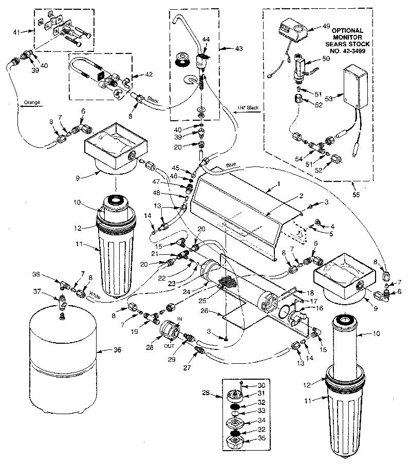 Kenmore model 62534900 reverse osmosis genuine parts