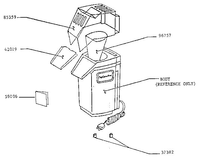 Presto model 0481001 popcorn popper genuine parts