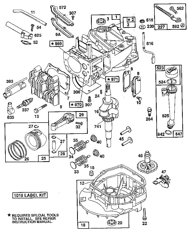 Briggs-Stratton model 124702-3158-01 engine genuine parts