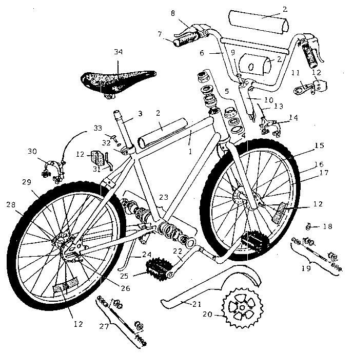 Kent model 02014 bicycles genuine parts
