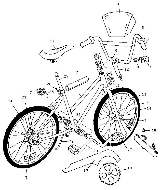 Kent model 02027 bicycles genuine parts