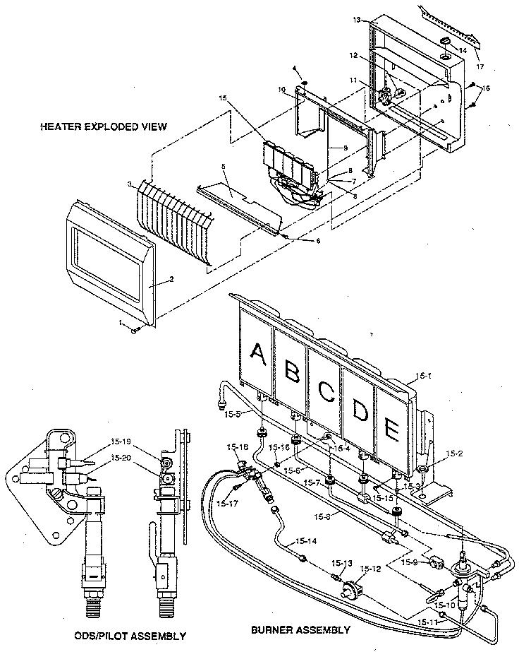 Desa model CGN30 furnace/heater, gas genuine parts