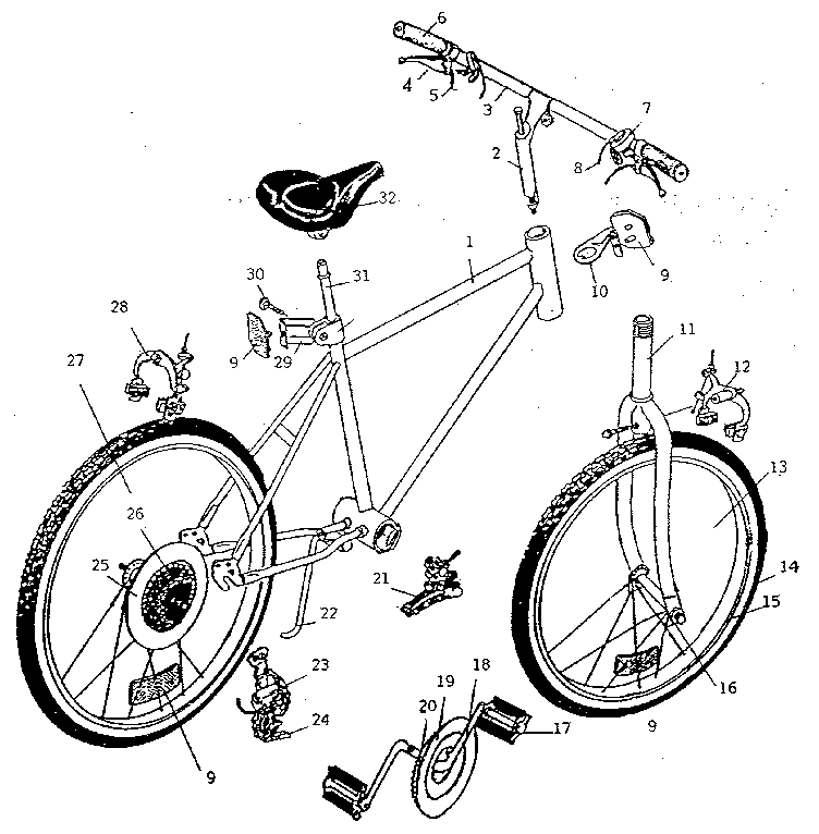 Bicycle Handlebar Parts Diagram