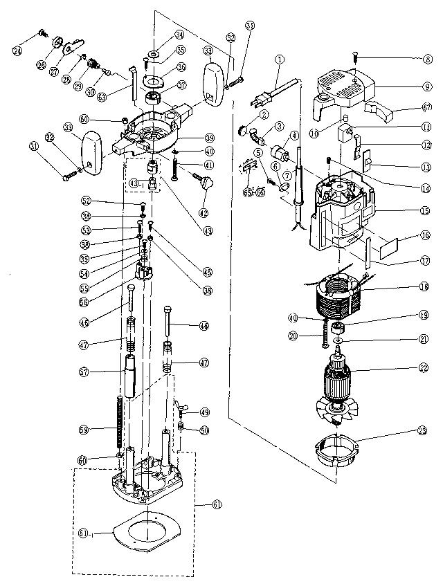 Ryobi model R-150 router genuine parts