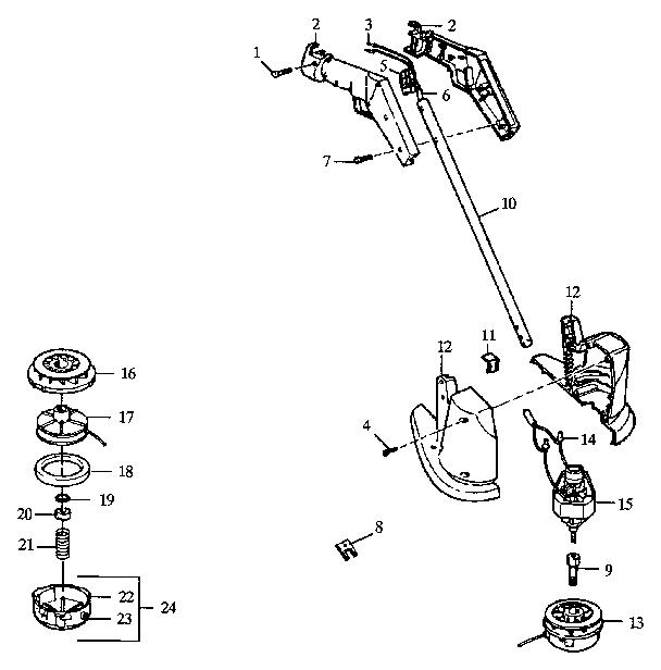Craftsman model 257799010 line trimmers/weedwackers
