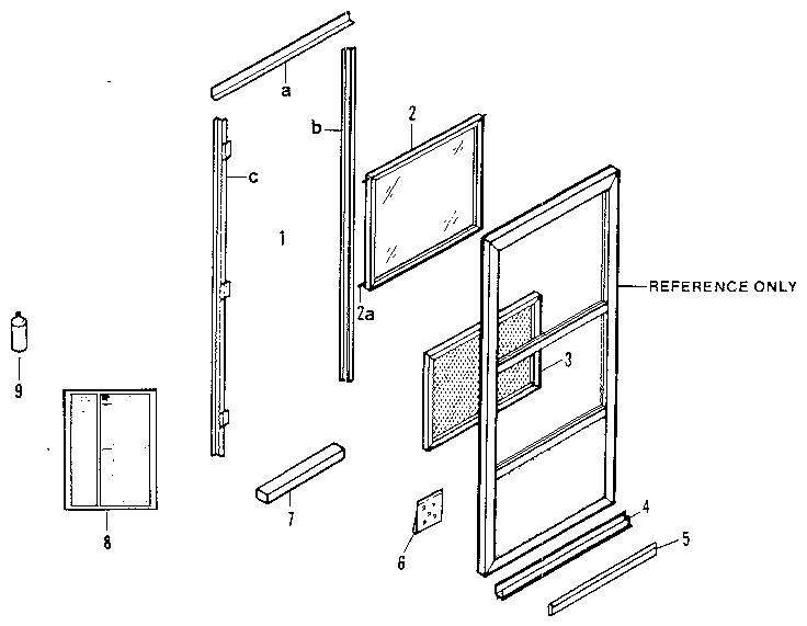 Chamberlain model G2100-23 storm/screen door genuine parts