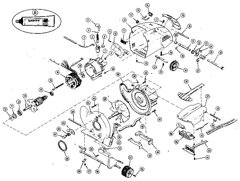 Kirby model 1CB vacuum, upright genuine parts