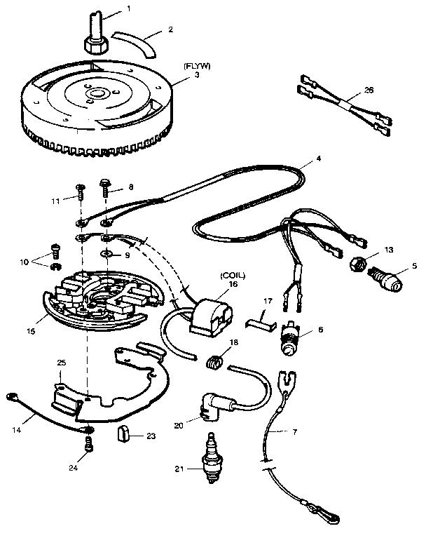 Craftsman model 225581994 boat motor gas genuine parts