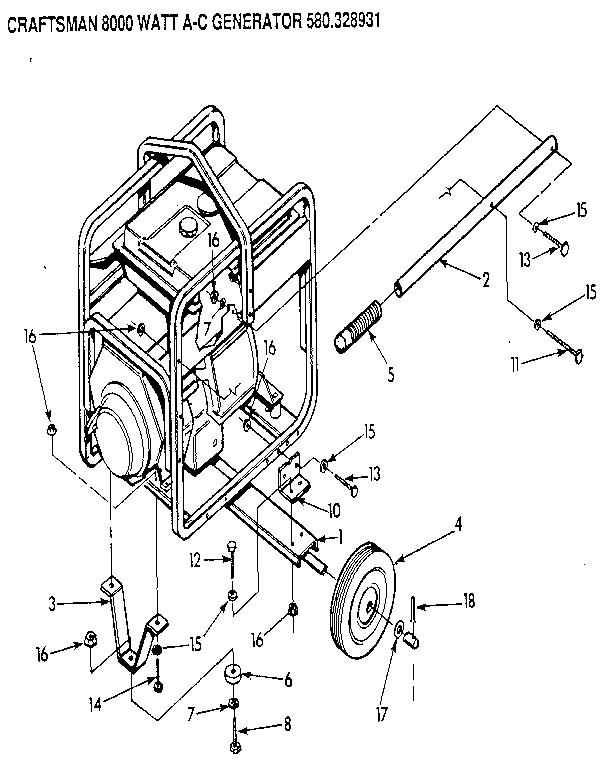 Craftsman model 580328931 generator genuine parts
