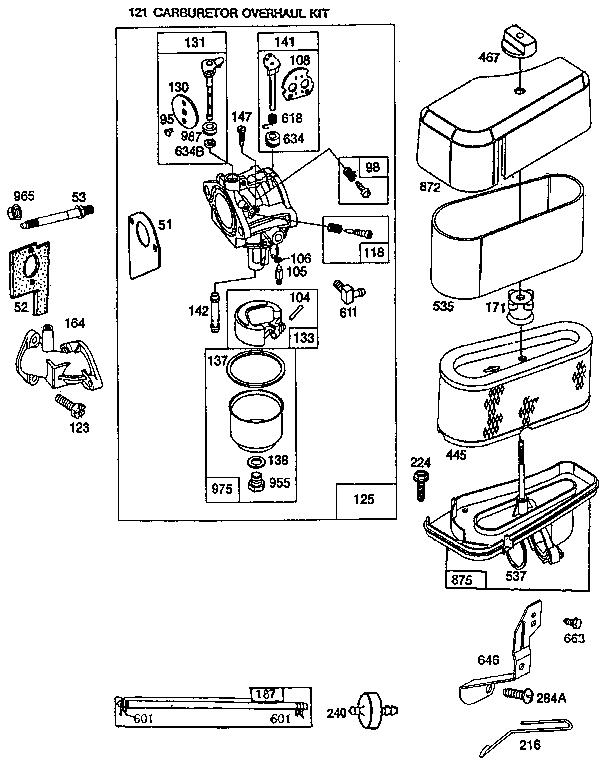 Briggs-Stratton model 286707-0437-01 engine genuine parts