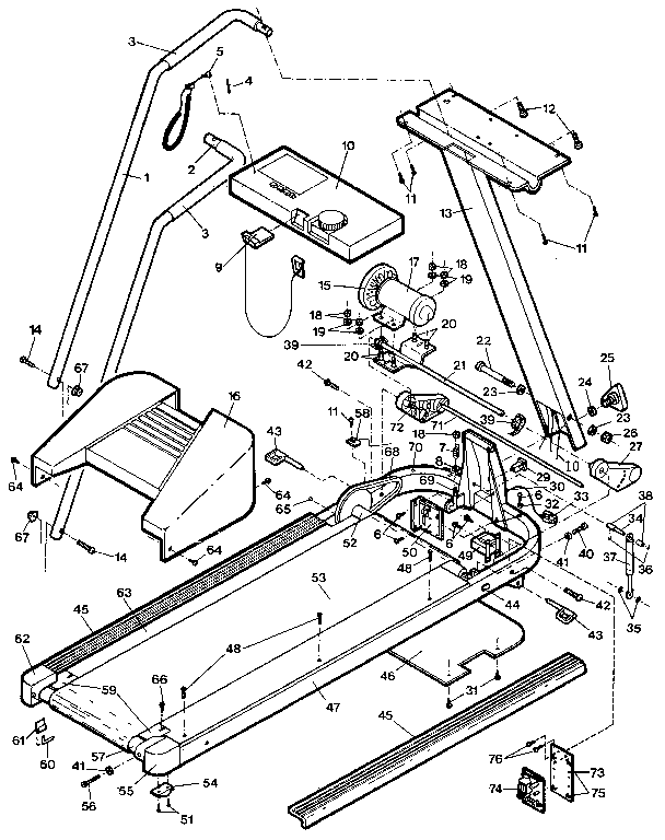 Proform model 29661 misc exercise genuine parts
