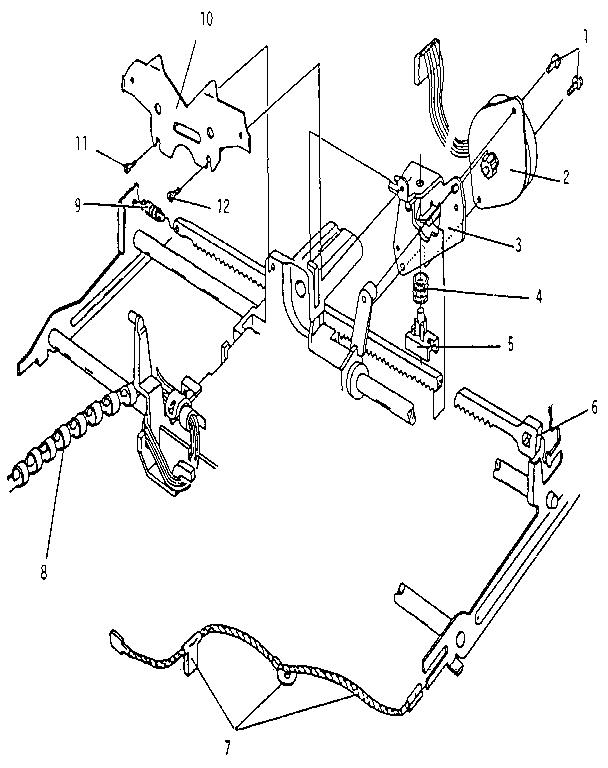 Smith-Corona model CXL 4200 (5APE) typewriter genuine parts