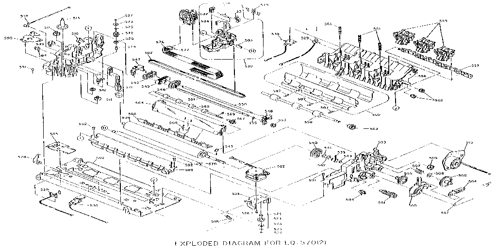 Epson model AP5000+ computer/printer genuine parts