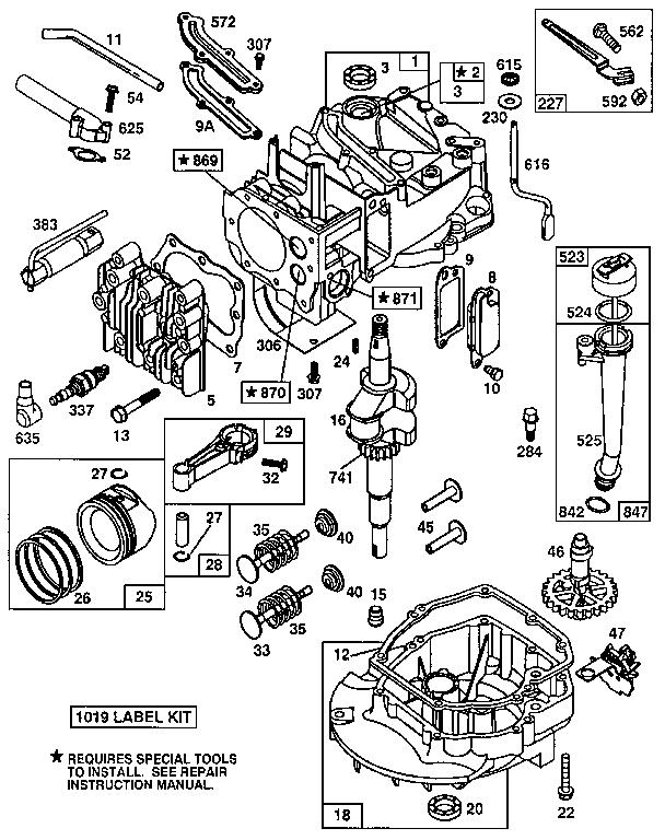 Briggs-Stratton model 124702-3186-01 engine genuine parts