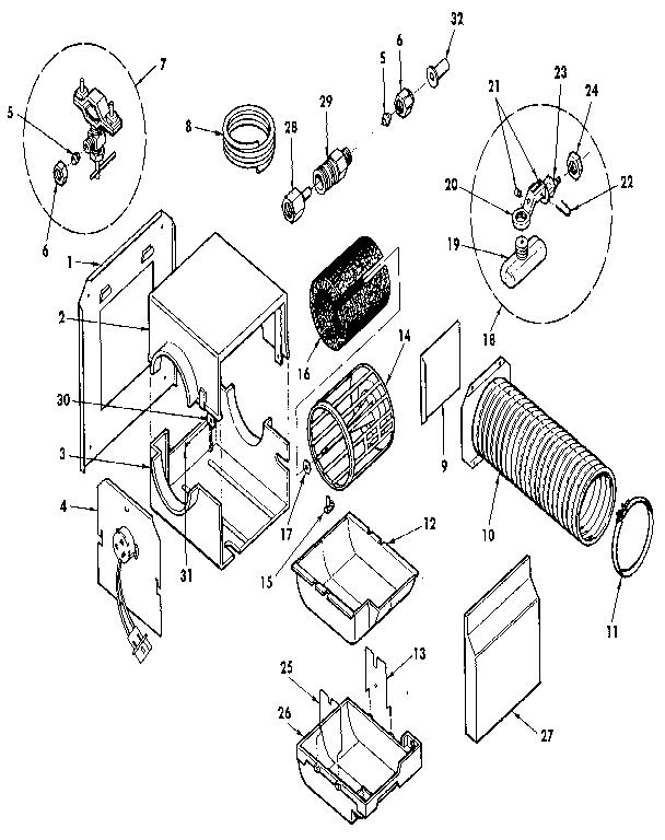 Kenmore model 303936612 humidifier genuine parts