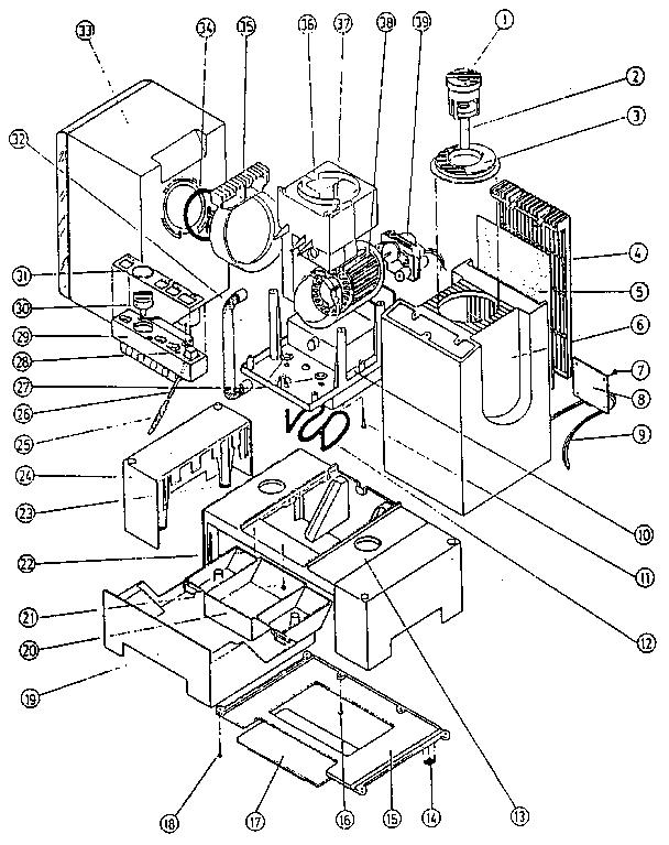 Bionaire model CM-3 humidifier genuine parts