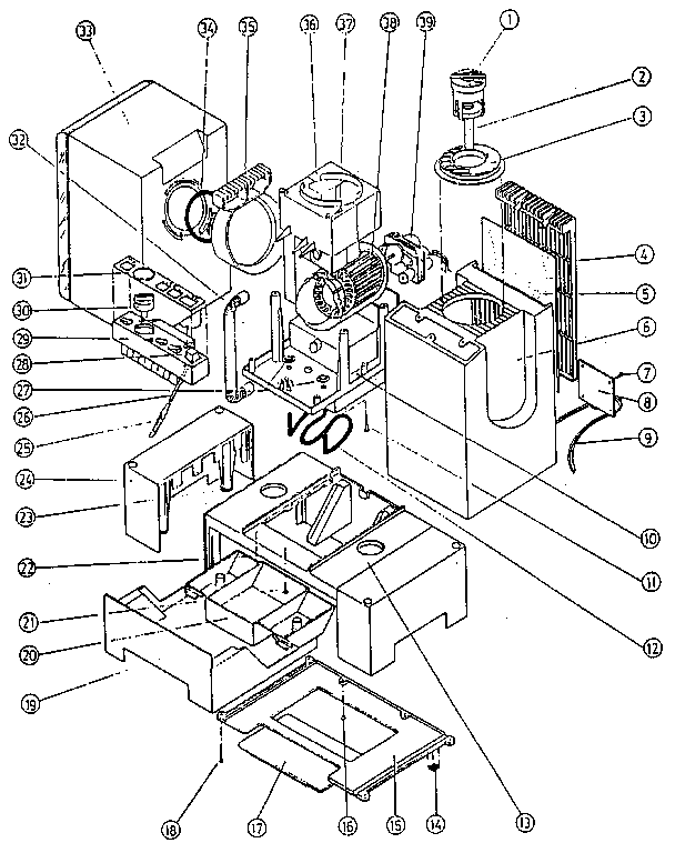 Bionaire model CM-2.5 humidifier genuine parts