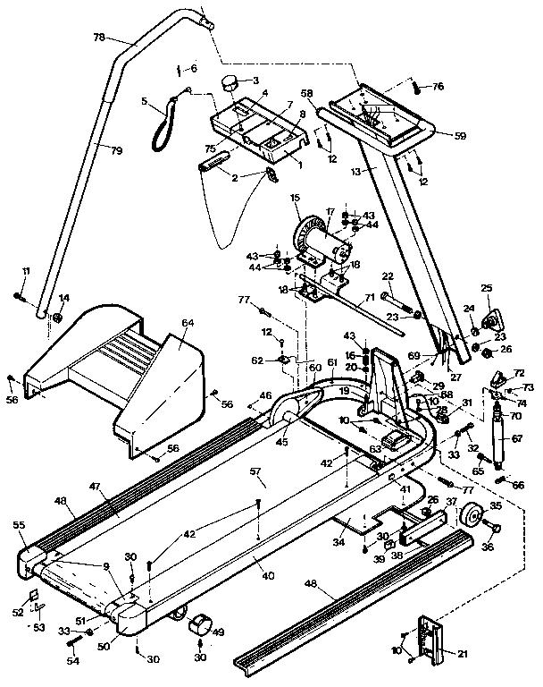 Lifestyler model 831298550 treadmill genuine parts