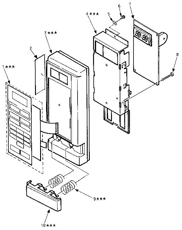 Kenmore model 5658982890 countertop microwave genuine parts