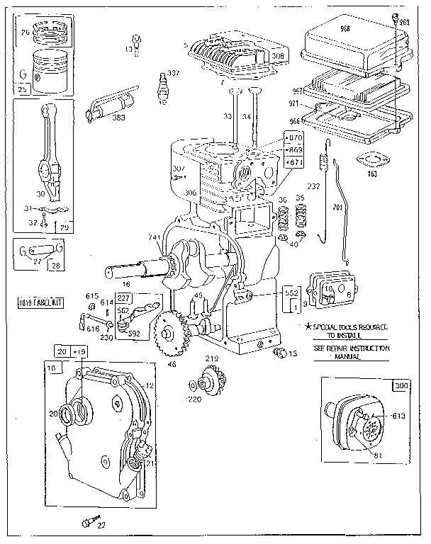 Briggs-Stratton model 130232-5501-01 engine genuine parts