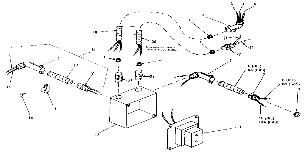 Yukon model LWG-168 furnace/heater, oil genuine parts