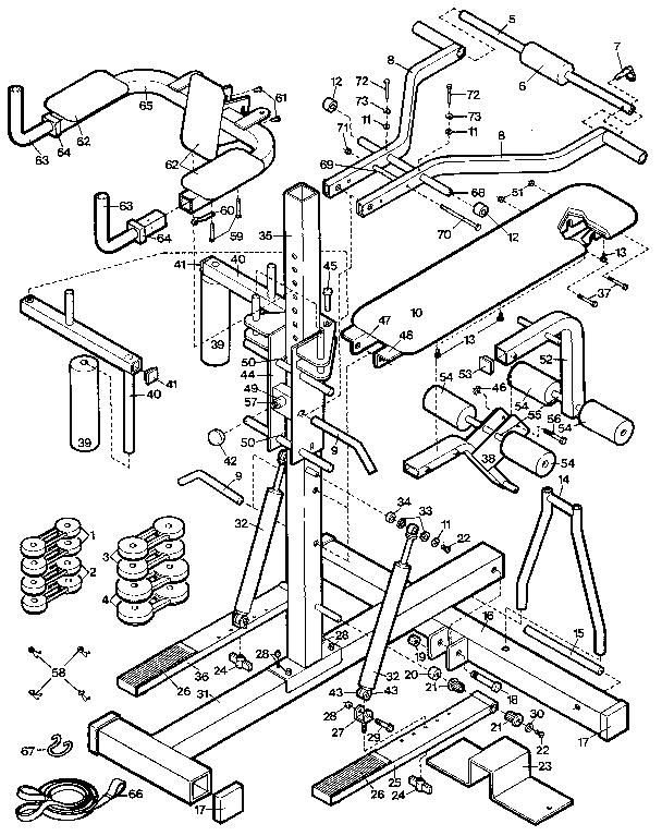 Proform model PF085011 misc exercise genuine parts