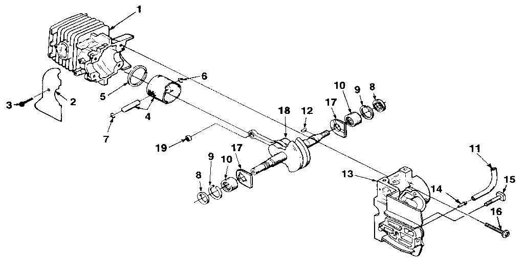 Homelite model SUPER 2 chainsaw, gas genuine parts