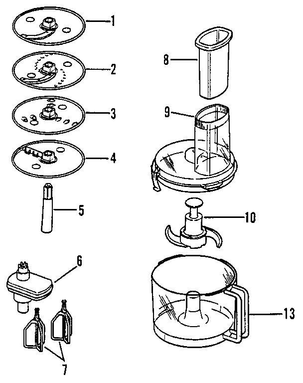 Regalware model 663 food processor genuine parts