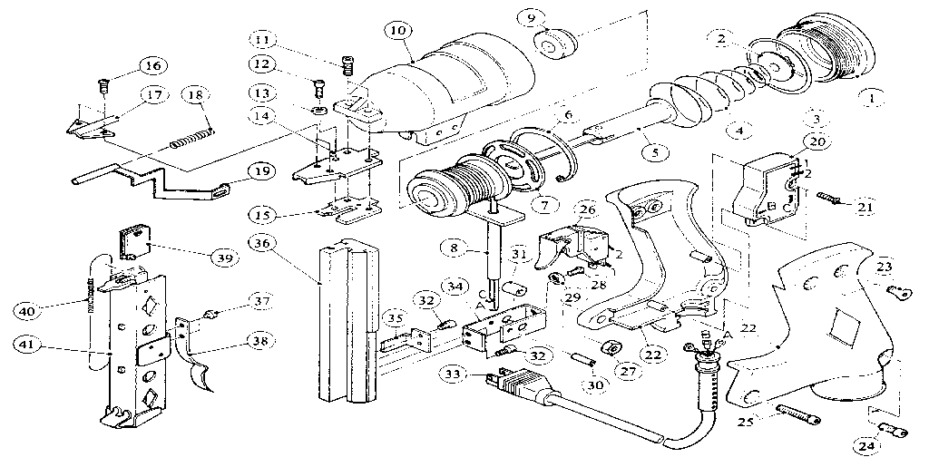 Craftsman model 836272300 stapler electric genuine parts