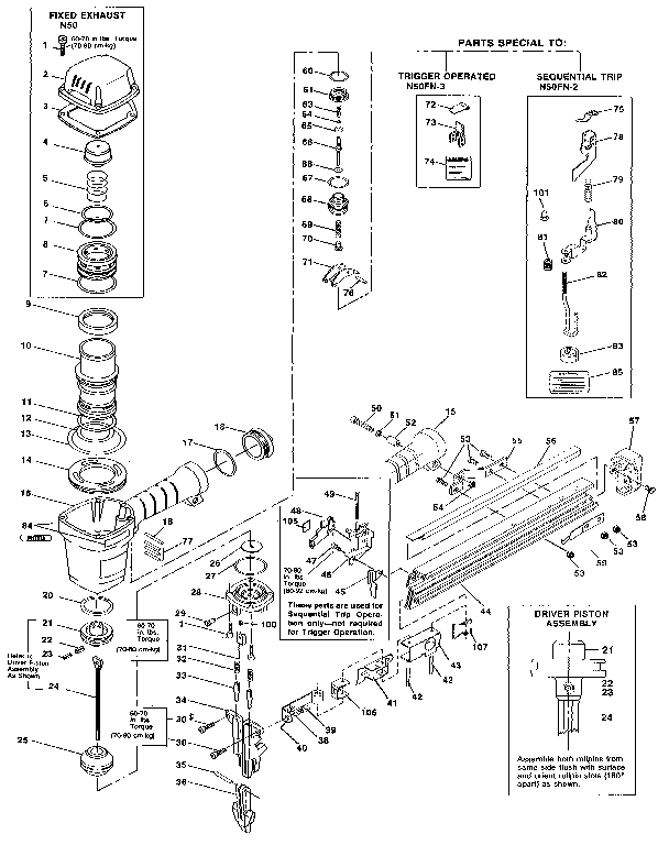 Bostitch Floor Nailer Parts Diagram