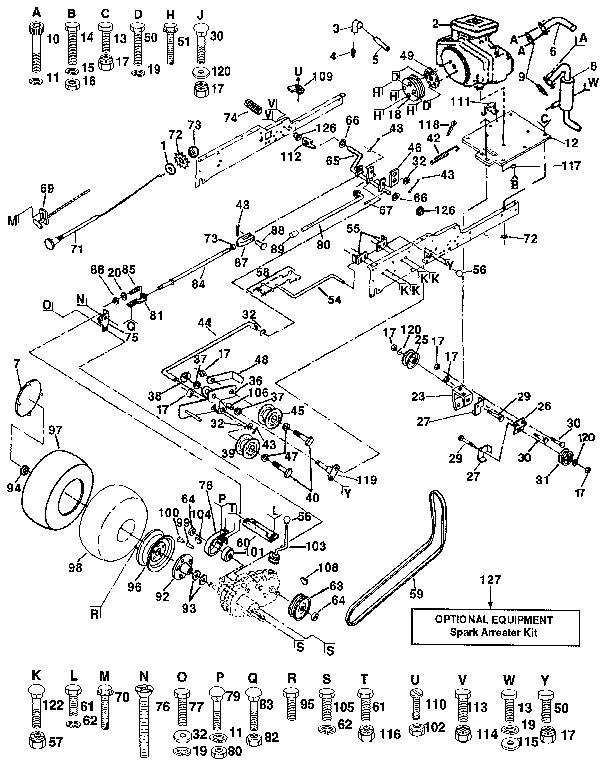 Craftsman model 917250910 lawn, tractor genuine parts