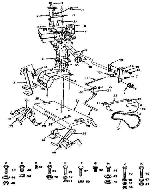 Craftsman model 917252494 tiller attachment genuine parts