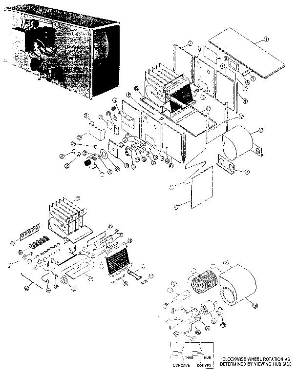 Rheem model RGJA-10 furnace/heater, gas genuine parts