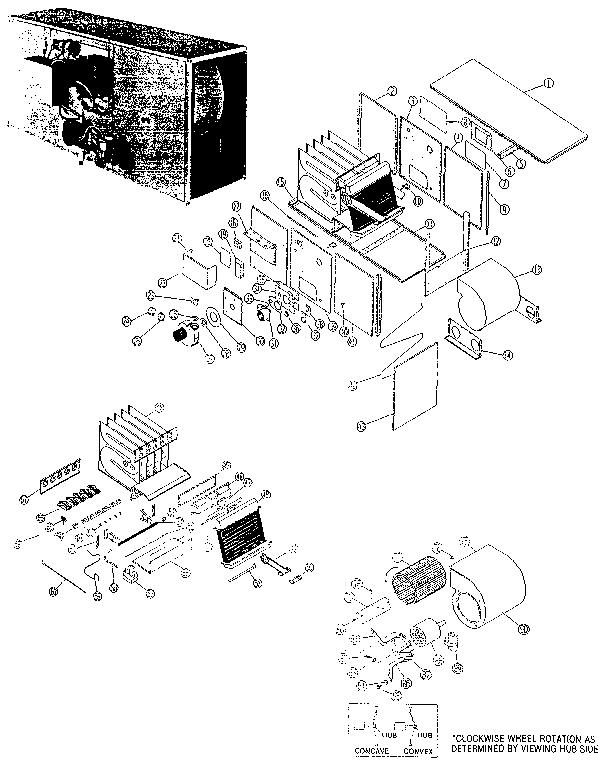 Rheem model RGJA-05 furnace/heater, gas genuine parts