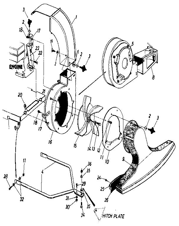 Mtd model 243-685-000 lawn vacuum genuine parts