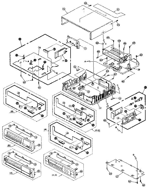 Magnavox model VR3410AT01/02 vcr genuine parts