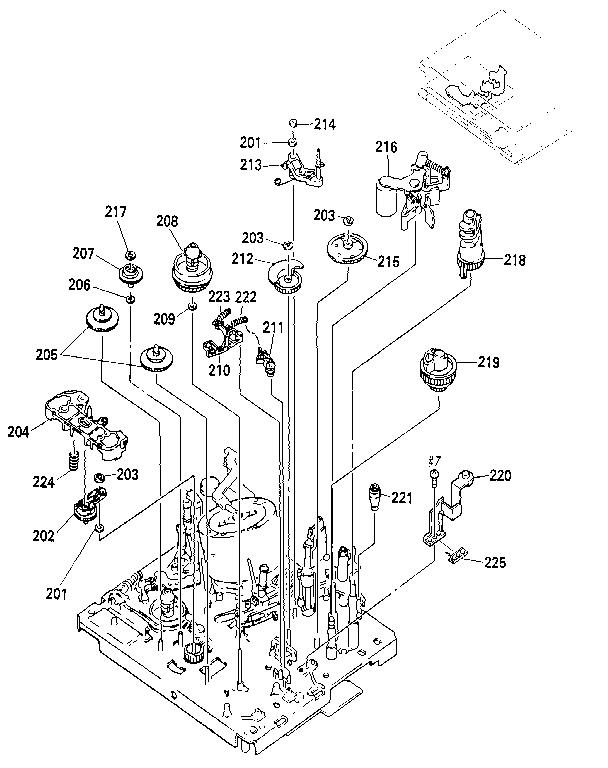 Sony model SLV-595HF vcr genuine parts