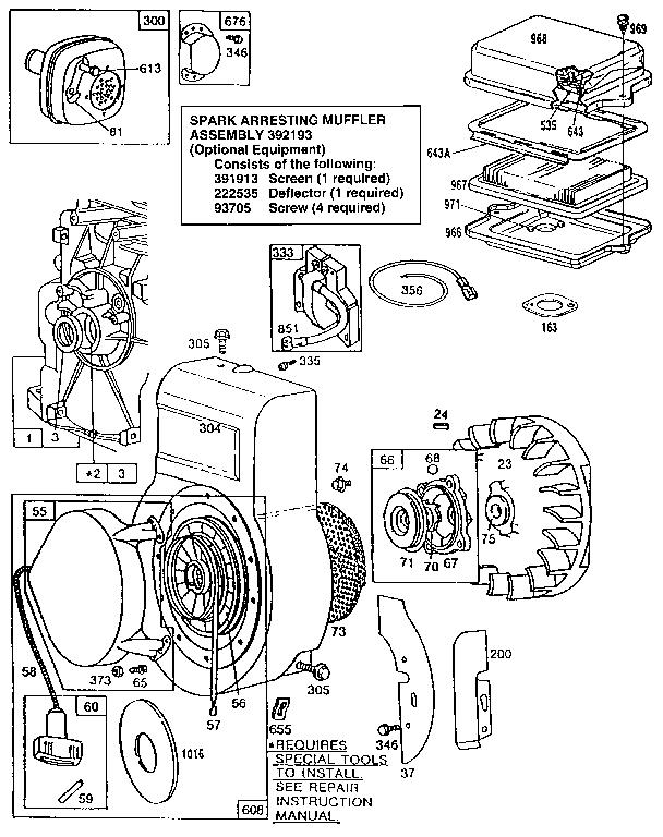 Briggs-Stratton model 130202-3116-01 engine genuine parts