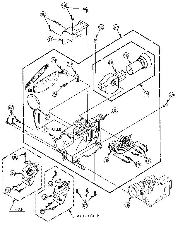 Panasonic model PV-42 compact vhs-c camcorder genuine parts