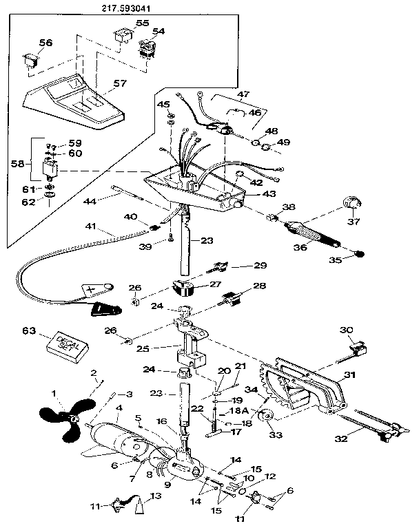 CRAFTSMAN ELECTRIC FISHING MOTOR/30 LB. THRUST Parts