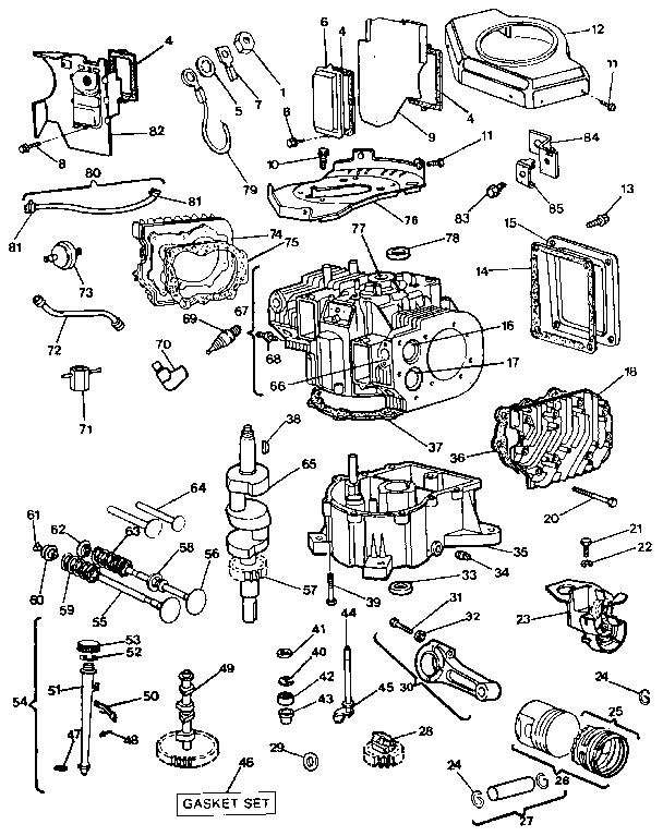 Briggs-Stratton model 422707-1211-01 engine genuine parts