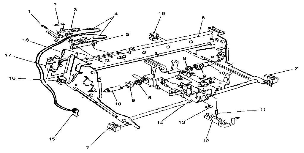Smith-Corona model XD 4950 (5AEQ) typewriter genuine parts