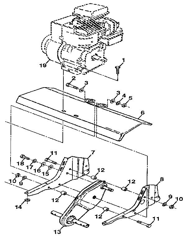Craftsman model 917298352 front tine, gas tiller genuine parts