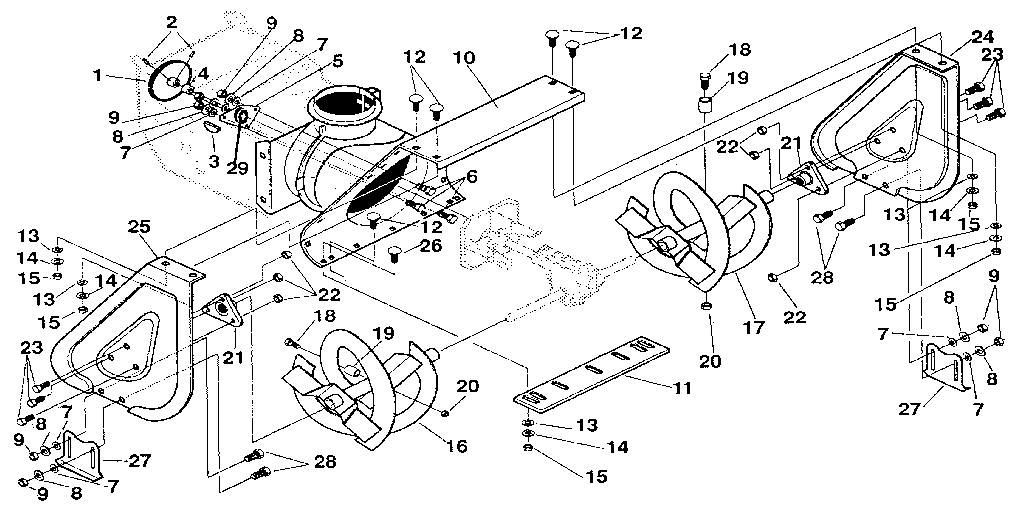 Craftsman model 536884822 snowthrower, gas genuine parts