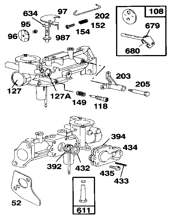 Briggs-Stratton model 135212-0272-01 engine genuine parts
